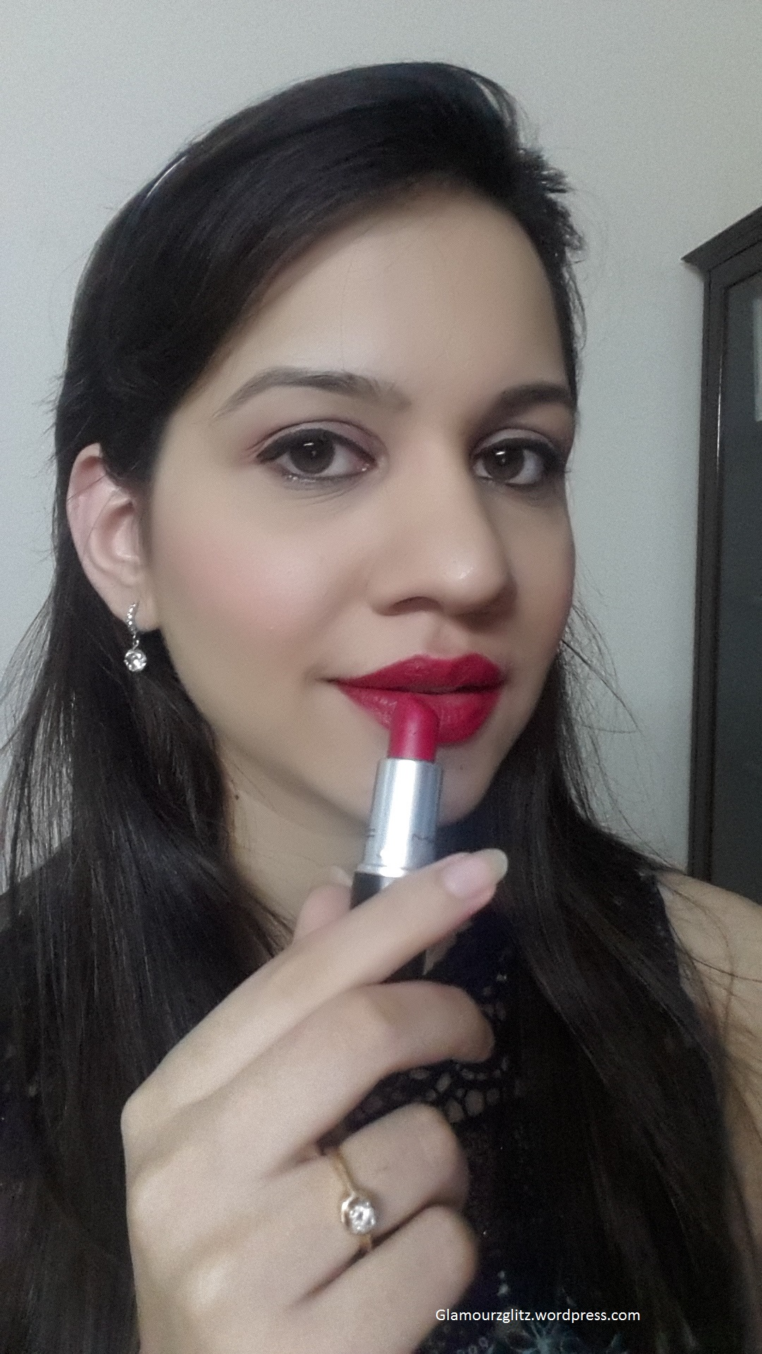 Mac All The Right Angles Makeup Collection For Spring 2016: MAC Retro Matte Lipstick- All Fired Up Review, Swatches