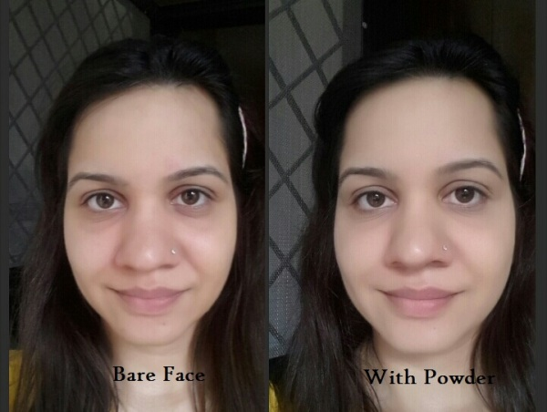 See the coverage! though dark circles are still visible but face looks even.