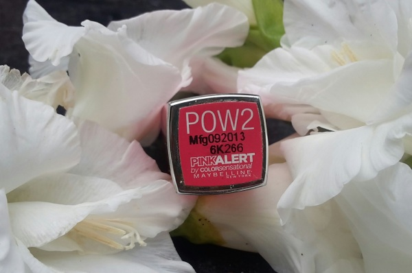 Maybelline Pink Alert Lipstick POW2 Review