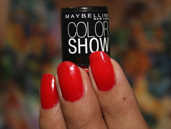 Maybelline Color Show Nail Paint- Keep Up The Flame Review
