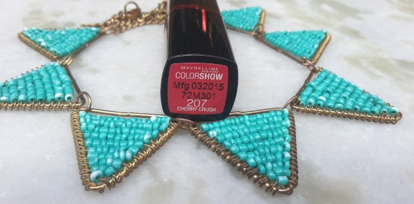 Maybelline Color Show Lipstick Cherry Crush Review, LOTD