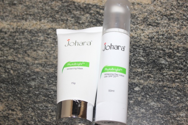 Johara Cosmetics PhytoBright Whitening Day Lotion and Whitening mask Review